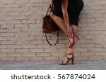 low section of stylish woman... | Shutterstock . vector #567874024