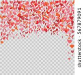 romantic heart background.... | Shutterstock .eps vector #567879091