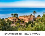 idyllic view of old rustic... | Shutterstock . vector #567879937