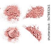 make up crushed pink eye shadow ... | Shutterstock . vector #567883261