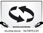 rotation arrows icon vector... | Shutterstock .eps vector #567895135