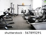 interior of a fitness hall | Shutterstock . vector #567895291