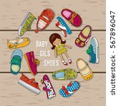 Illustration Shoes For Girls...
