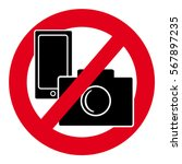 no camera and mobile phone... | Shutterstock .eps vector #567897235