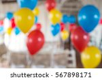 Multi Colored Balloons In The...