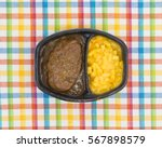 top view of a tv dinner meal of ... | Shutterstock . vector #567898579