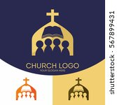 church logo. christian symbols. ... | Shutterstock .eps vector #567899431