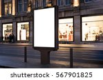 outdoor advertising mockup | Shutterstock . vector #567901825