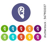 ear set icons in different... | Shutterstock .eps vector #567903337