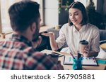 group of young happy people... | Shutterstock . vector #567905881
