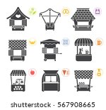 collection of movable and fixed ... | Shutterstock .eps vector #567908665