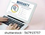 warranty assurance guarantee... | Shutterstock . vector #567915757