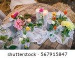 wedding decorations. flowers ... | Shutterstock . vector #567915847