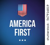 america first banner with usa... | Shutterstock .eps vector #567916819
