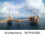 offshore construction platform... | Shutterstock . vector #567919381