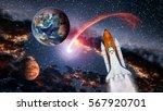 Space shuttle spaceship earth...