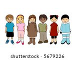 children   vector | Shutterstock .eps vector #5679226