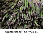 background of asparagus bunch | Shutterstock . vector #56793151