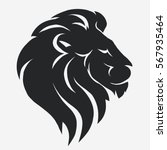 Lion Logo. Black Mascot Head ...