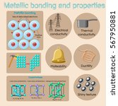 metallic bonding and basic... | Shutterstock .eps vector #567950881