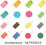set of blank vintage frames.... | Shutterstock .eps vector #567953515