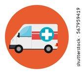 ambulance emergency vehicle icon | Shutterstock .eps vector #567959419