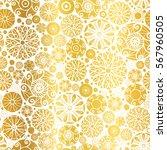 vector golden abstract doodle... | Shutterstock .eps vector #567960505