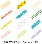 strips of masking tape. | Shutterstock .eps vector #567962014