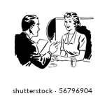 couple seated at a booth  ... | Shutterstock .eps vector #56796904