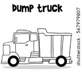 dump truck collection with hand ... | Shutterstock .eps vector #567979807