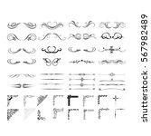 calligraphic lines. | Shutterstock .eps vector #567982489