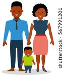 a young family with small child.... | Shutterstock .eps vector #567991201