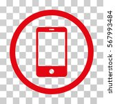 smartphone rounded icon. vector ... | Shutterstock .eps vector #567993484