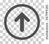 arrow up rounded icon. vector... | Shutterstock .eps vector #567999181