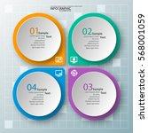 vector abstract 3d paper... | Shutterstock .eps vector #568001059