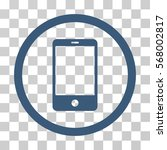 smartphone rounded icon. vector ... | Shutterstock .eps vector #568002817