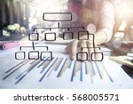 businessman working with... | Shutterstock . vector #568005571