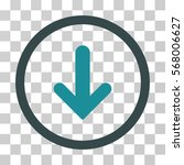 arrow down rounded icon. vector ... | Shutterstock .eps vector #568006627