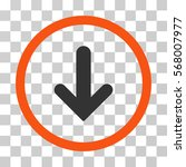 arrow down rounded icon. vector ... | Shutterstock .eps vector #568007977