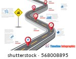 design template  road map... | Shutterstock .eps vector #568008895