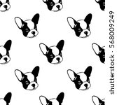 dog seamless pattern with...   Shutterstock .eps vector #568009249