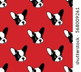dog seamless pattern with... | Shutterstock .eps vector #568009261