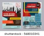 retro brochure layout design... | Shutterstock .eps vector #568010341