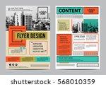 retro brochure layout design... | Shutterstock .eps vector #568010359