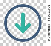 arrow down rounded icon. vector ... | Shutterstock .eps vector #568011901