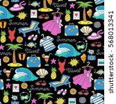 vector seamless pattern with...   Shutterstock .eps vector #568013341