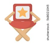 director chair star movie film... | Shutterstock .eps vector #568021045