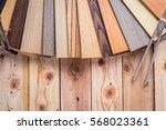 wood laminate veneer material... | Shutterstock . vector #568023361