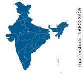 blue map of india | Shutterstock .eps vector #568023409
