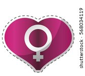 fucsia heart with female symbol ...   Shutterstock .eps vector #568034119